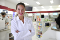 a female pharmacist